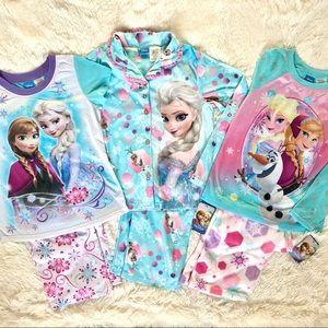 Disney Frozen Elsa Pajamas Bundle•NWT•Size 10/12